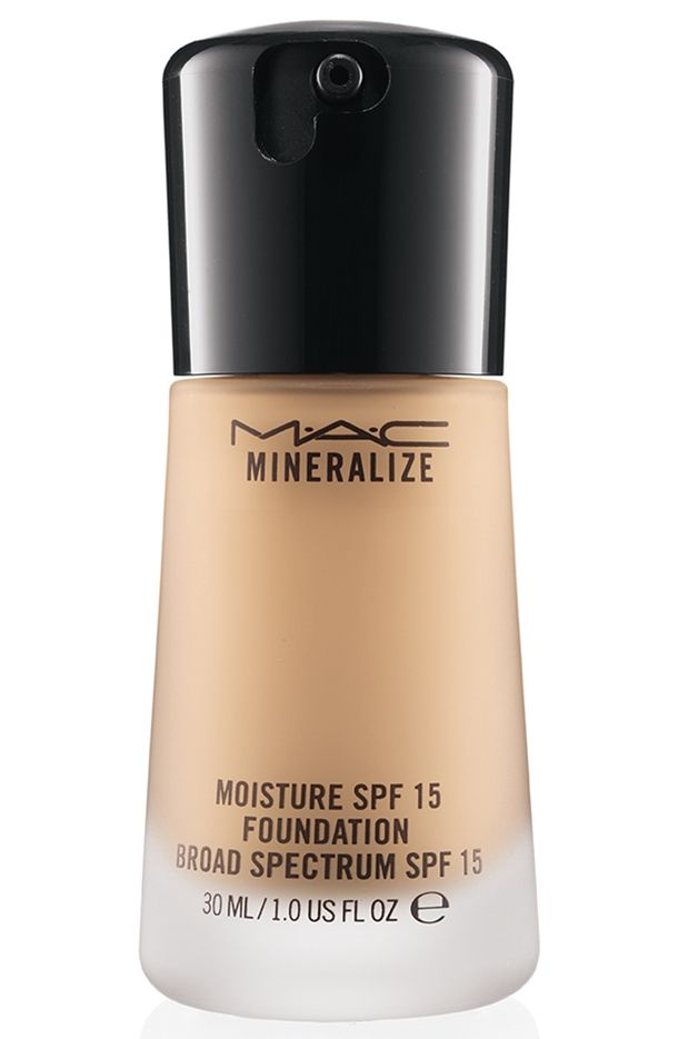 MAC Mineralize Moisture Foundation-PHENOMENAL foundation. Makes skin look completely flawless and dewy without the look of a heavy product! For dry skin !! but normal skin can use it If they want a dewy look :) Pinterest.com/mignel