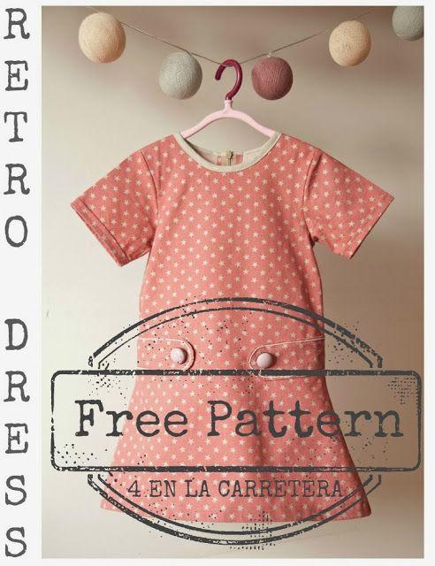 4 EN LA CARRETERA. Handmade: TUTORIAL: RETRO DRESS WITH PATTERN - VESTIDO RETRO CON PATRÓN gratis patroon 5 jaar