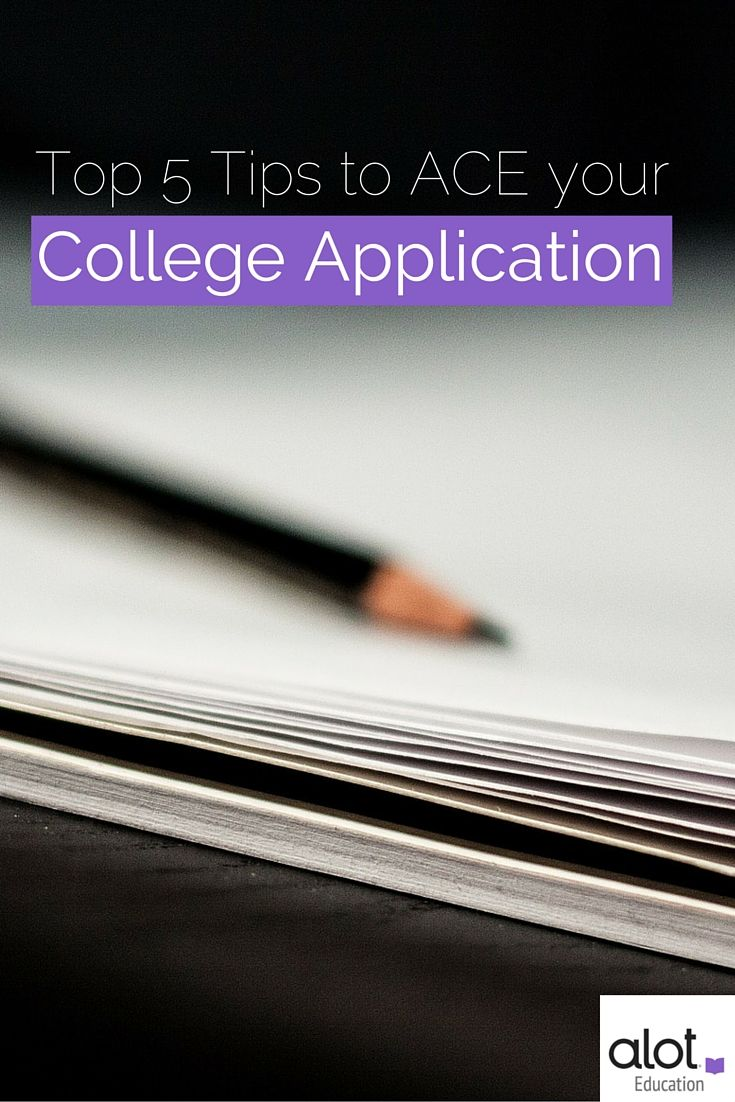 Here are five go-to admissions tips for college-bound hopefuls --->