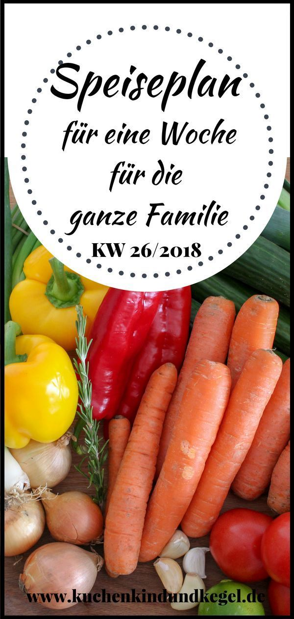 Speiseplan für die Woche 26/2018 – Ideen für die ganze Familie – Kuchen, Kind …