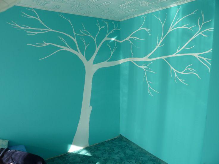 první pokus malby na zeď