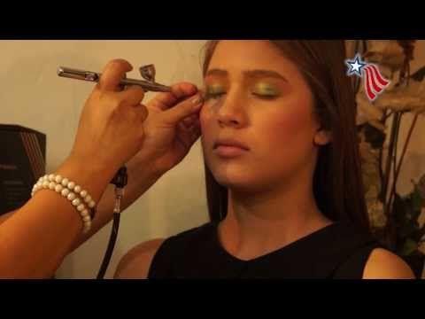 Erika Castro - Maquillaje con Aerógrafo - YouTube