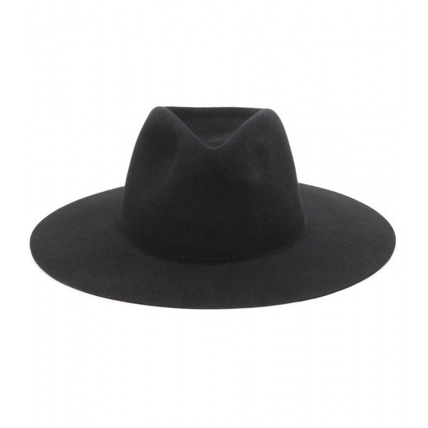 Rag & Bone Wool Fedora (15680 RSD) ❤ liked on Polyvore featuring accessories, hats, black, hats/hair accessorie, fedora hat, black fedora, black fedora hat, wool hat and woolen hat