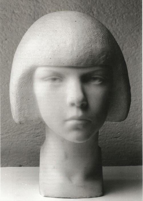 European Sculpture — Viktor Jansson - A Girl's Head [Tove Jansson],...