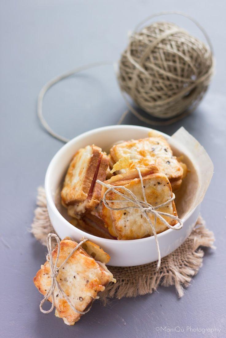 Feta fritta   Crackers all'acqua    Croque-monsieur mignon   Taralli all'anice     Eclair avocado e gamberi   Sigari con rucola   Rillet...