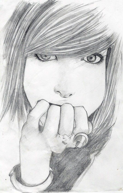 Beautiful Girl Sketch Art Journal Inspiration Pinterest
