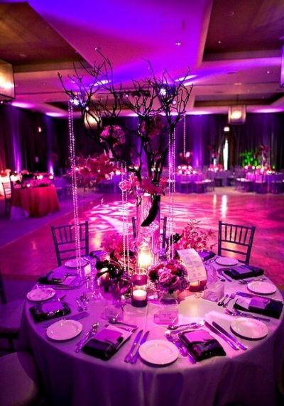 Fuschia And Purple Theme Love Lighting Loveluv Pinterest Wedding Decorations