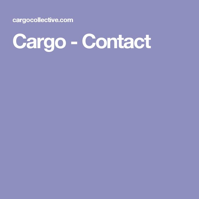 Cargo - Contact