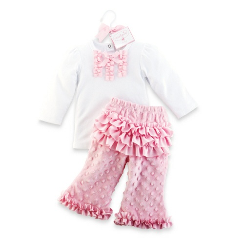 Mud Pie Princess Minky 2pc Pant Set-mud pie, princess, minky pink, pant set, 2pc pant set, pink, baby, newborn, infant, baby shower gift, trendy, baby bouqitue