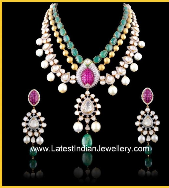 Designer Kundan Jadau Jewellery with Polki Diamonds and Diamonds | Latest Indian Jewellery Designs