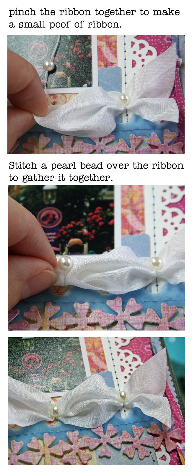 Scrapbook ideas with ribbon - Poof Ribbon Trim