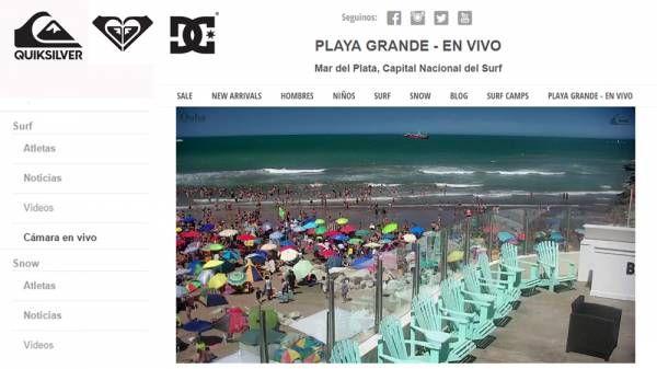 Quiksilver transmitirá vía streaming en exclusiva las olas de Playa Grande
