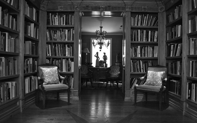 Our reference library. Bespoke built-ins to house reference books on everything Antiquities to Contemporary Canadian Art. Located in The Barn in Shakespeare, Ontario, Canada.