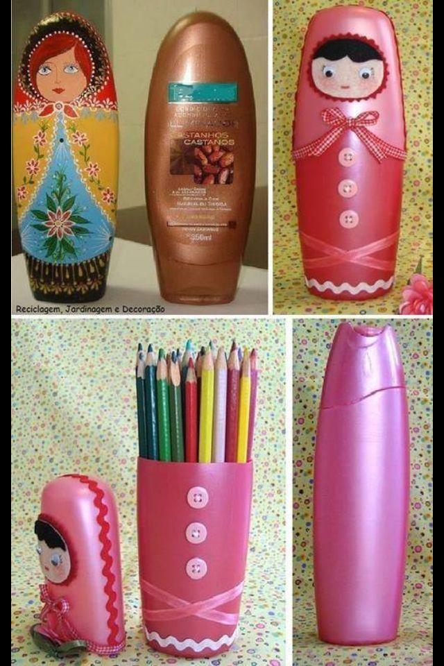 Shampoo bottle decoration