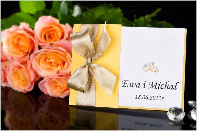 Piękne zaproszenia ślubne otwierane w bok. Polecam!