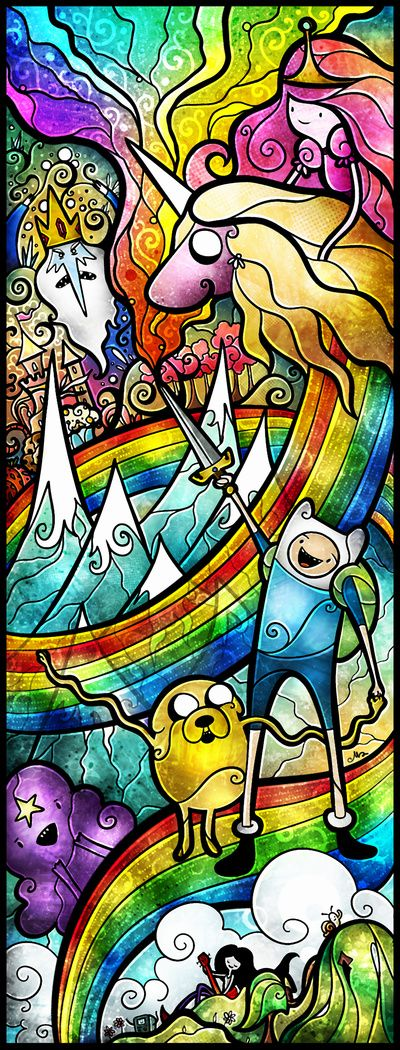Stretched Canvas | #adventuretime #illustration #ilustração #artedigital #digitalart