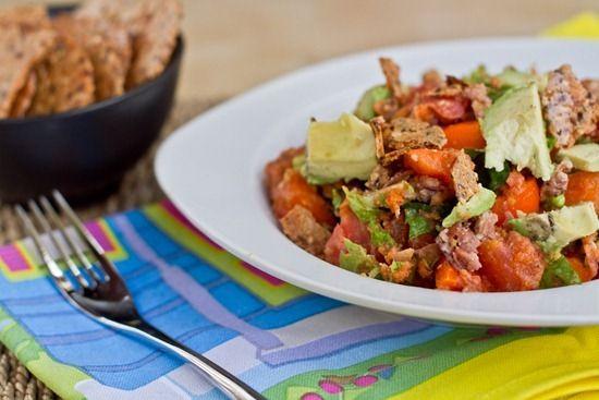 Taco Salad with Cilantro Lime Vinaigrette- vegan