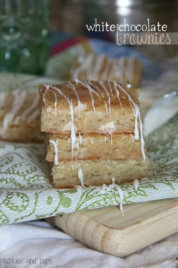 """White Chocolate """"brownies"""".  My favorite bar recipe...rich, delicious and easy!"""