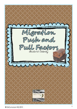 This lesson supports students in understanding the push and pull factors contributing to human migration with an Australian context.The content of this lesson links to the Australian Curriculum: History for Year 6Historical Knowledge and Understanding:Australia as a Nation (ACHHK115)Comparing push and pull factors that have contributed to people migrating to Australia (for example economic migrants and political refugees).This product is part of a series on Australian Immigration…