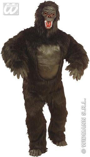 #Gorila Disfraz de Gorila Negro Incluye: Disfraz con mascara, pies y manos    Composición: Dacha y latex http://www.disfracessimon.com/disfraces-adultos/2987-disfraz-de-gorila.html
