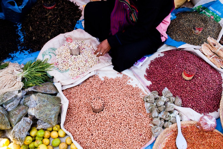 Legumes for sale, Inle Lake market. *Inle Lake is a freshwater lake located in the Nyaungshwe Township of Taunggyi District of Shan State, part of Shan Hills in Myanmar.