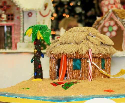 Beach shack Gingerbread house... awesome