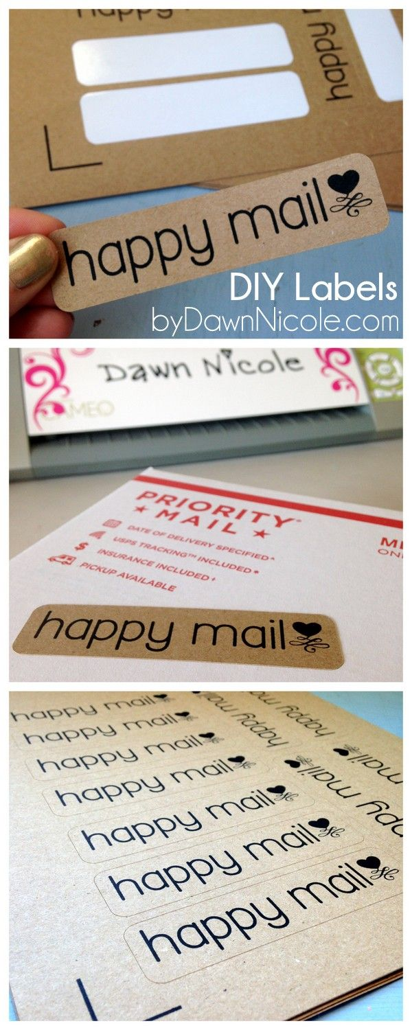 DIY Labels | Silhouette Print & Cut Tutorial | Happy Mail Labels ByDawnNicole.com