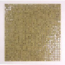 "Galaxy Straight 0.31"" x 0.31"" Glass Mosaic Tile in Brushed Gold"