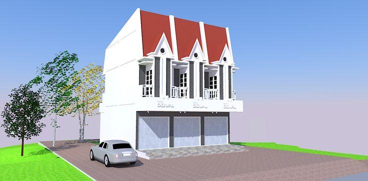 Disain Rumah Toko (Ruko) Type PS-02  Info @ http://bursa-arsitektur.blogspot.co.id/2014/08/disain-rumah-toko-ruko-type-ps-02.html