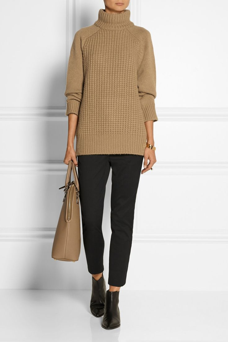 The Row|Rivington camel and cashmere-blend turtleneck sweater