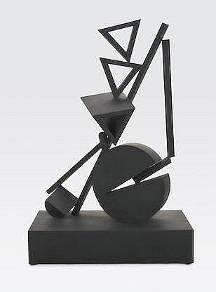 FLETCHER BENTON (born 1931) Balanced-Unbalanced Three Tria