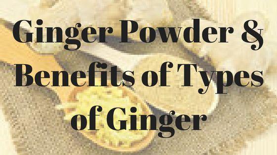 Ginger Powder & Benefits of Types of Ginger