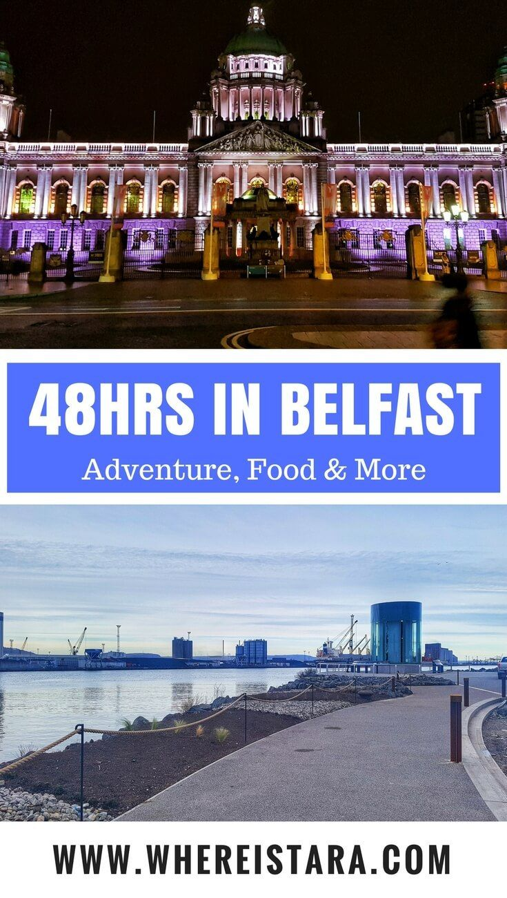 Recently I spent 48 hours in Belfast, the capital of Northern Ireland. It's bright, bold and vibrant. There are so many things to do in Belfast and I squeezed in as much as I could into my short trip. From St. George's Market to City Halla, indoor skydiving to the Titanic Quarter and more, here's your ultimate guide to 48 hours in Belfast.