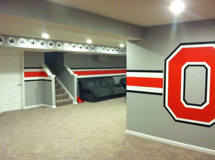 Ohio State themed Man Cave & 55 best Ohio state room images on Pinterest | Ohio state rooms Ohio ...