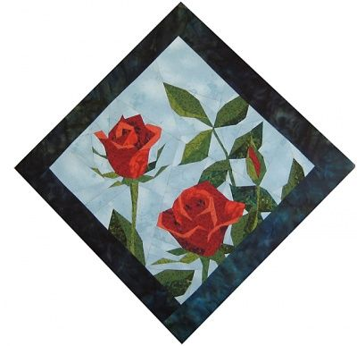 paper pieced rose (Want it and love it) I would make a quilt out of this and lillys in memory of my Nan and Pa Pa