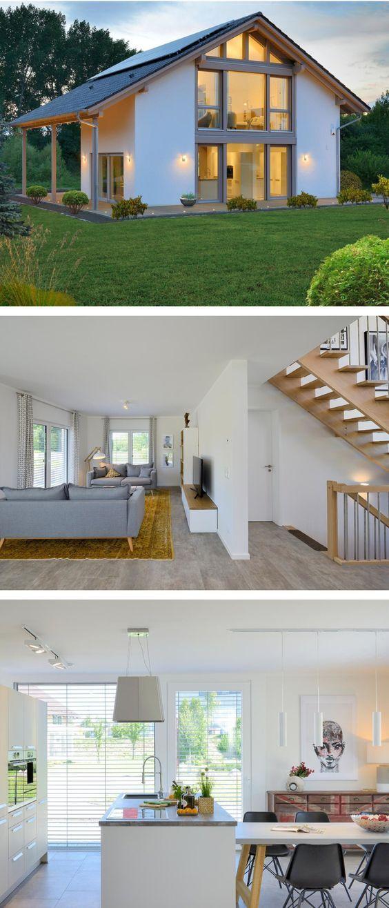 Einfamilienhaus Neubau Modern Mit Satteldach Architektur Fachwerk