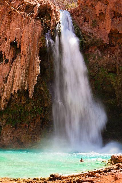 Havasupai Falls, Havasupai Indian Reservation, Grand Canyon, Arizona by  Henrik Johansson