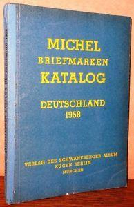 Briefmarken-Katalog-Deutschland-1958-Stamp-Collecting-Philately-German