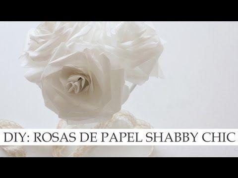DIY: Rosas de papel de estilo Shabby Chic   Manualidades