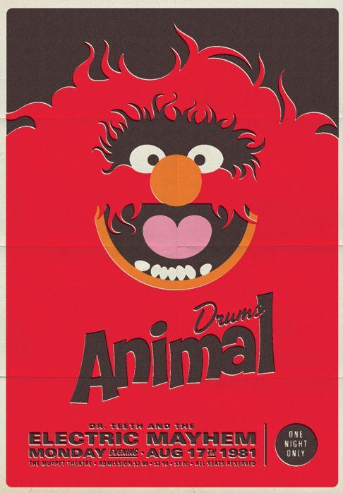 Retro Muppet Music Posters