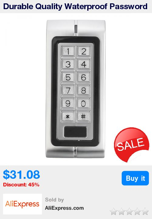 Durable Quality Waterproof Password Keypad Card Reader Entry Door Lock PC Access Control System New Arrival * Pub Date: 08:38 Apr 12 2017