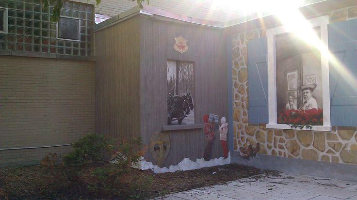 Protection anti graffiti de fresques murales avec le protecteur PSS20 à Collège Saint-Alexandre de la Gatineau, Québec