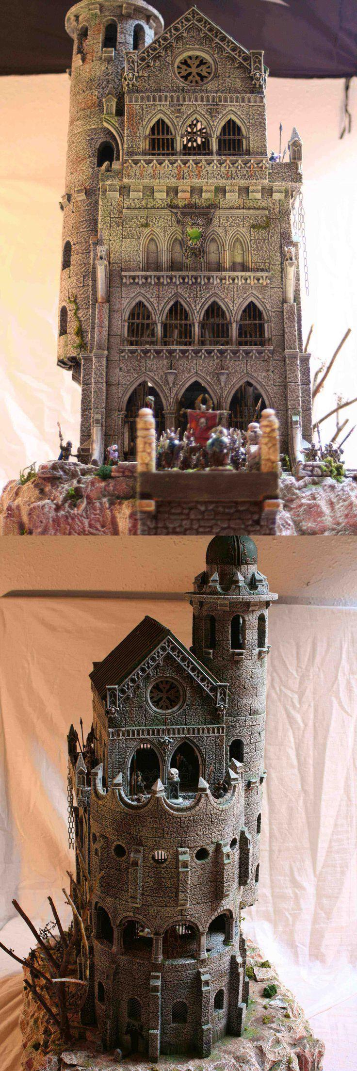 Vampire castle - made with HirstArt molds. Impressive work.