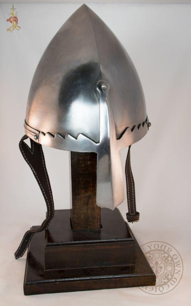 Helmet of St Wenceslas medieval armour reproduction for reenactment combat