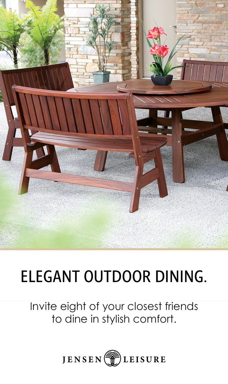 Ipe Wood Round Outdoor Bench Dining For Eight Round Dining Table Round Dining Dining Table