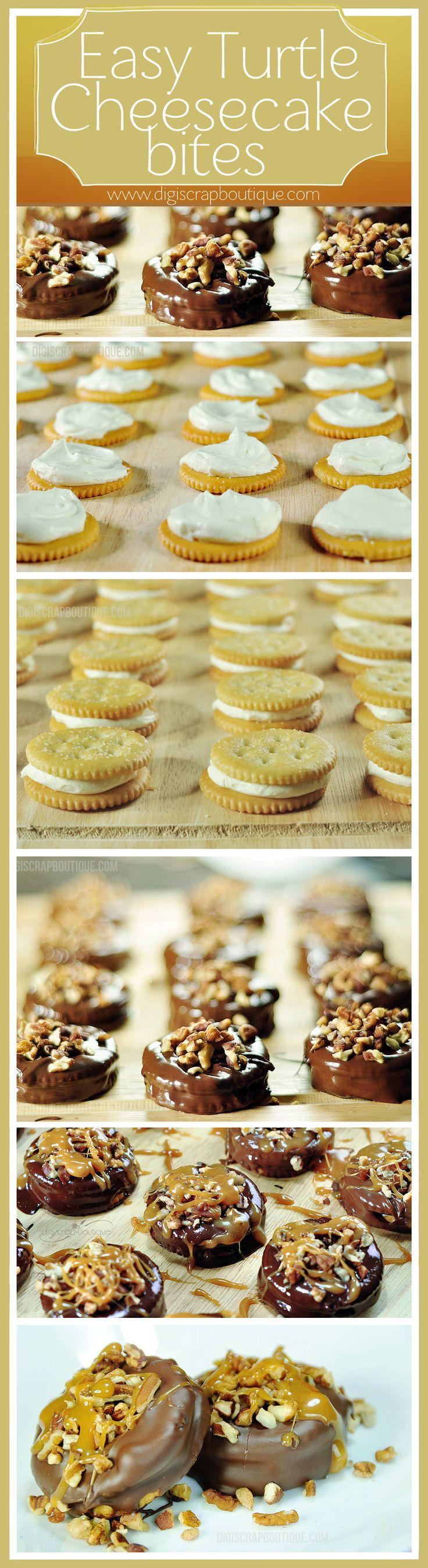 Easy Cheesecake Recipe: Easy Chocolate Covered Turtle Cheesecake Bites To Be Exact