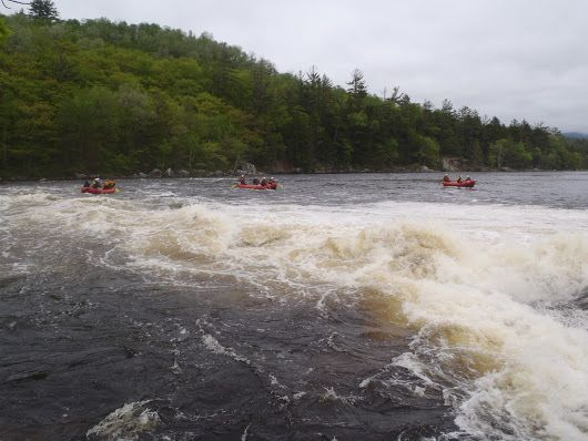 +Northeast Whitewater Maine raft guide trainees are learning lots about Maine rivers, hydrology and what it means to be a rafting guide!  #RaftGuides #MaineRaftGuides #GuideTraining #WhitewaterSchool http://www.northeastwhitewater.com/programs/whitewater-guide-training/