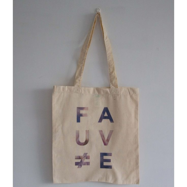 "Tote Bag Ecru ""Nuits Fauves"""