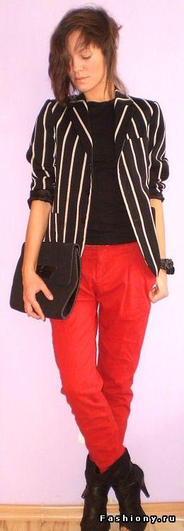 Ода красному. Часть первая: брюки / с чем носить красные брюки