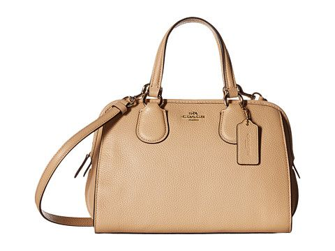 COACH Pebbled Leather Mini Nolita Satchel. #coach #bags #shoulder bags #hand bags #leather #satchel #lining #